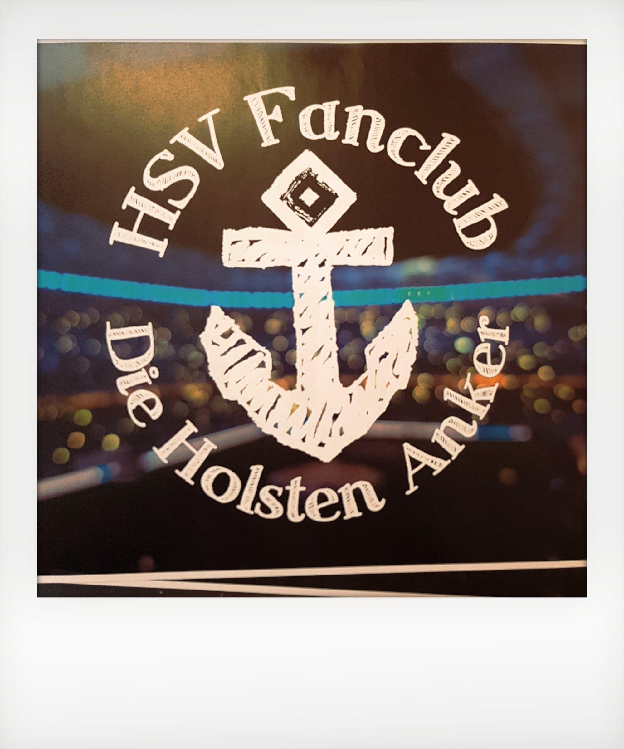 Anker mit Text: HSV Fanclub Die Holsten Anker